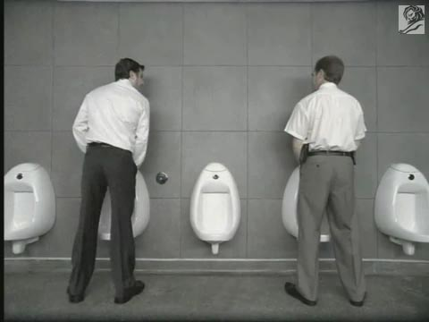 Men peeing in urinals stories