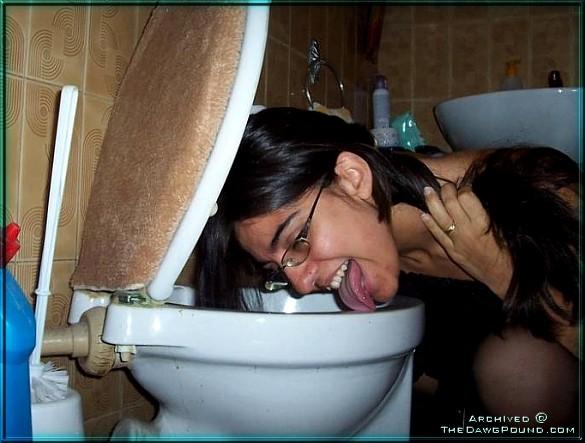 Suis lick my toilet